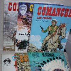 Cómics: COMANCHE (DE HERMANN,ROGE & GREG): LOS CINCO TOMOS DE GRIJALBO+ UNO DE JET. Lote 221000358
