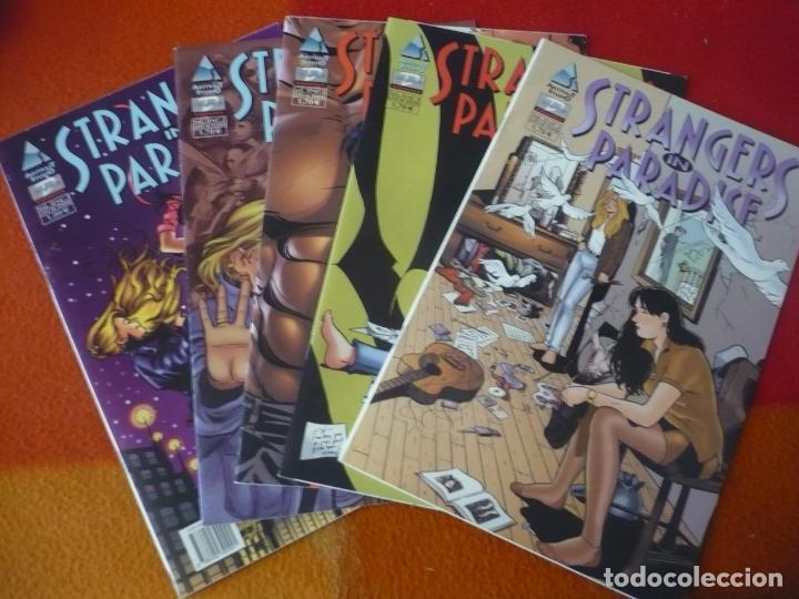 STRANGERS IN PARADISE VOL. II LOVE ME TENDER NºS 1, 2, 3, 4 Y 5 ( TERRY MOORE ) ¡BUEN ESTADO! DUDE (Tebeos y Comics - Comics otras Editoriales Actuales)