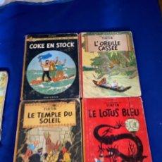 Cómics: LOTE TINTIN HERGE CASTERMAN LOTUS BLEU TEMPLE DU SOLEIL CASSE COKE EN STOCK + REGALO 1 EDI. Lote 221390072