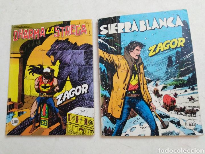 LOTE DE 2 CÓMIC ZAGOR (Tebeos y Comics Pendientes de Clasificar)