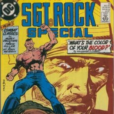 Cómics: SGT. ROCK SPECIAL, VOL.1 NO.06: WHATS THE COLOR OF YOUR BLOOD. Lote 221626152
