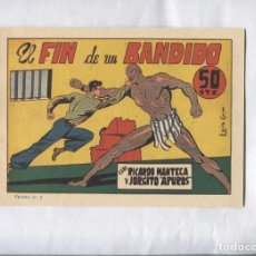 Cómics: FACSIMIL: RICARDO MANTECA Y JORGITO APUROS NUMERO 05: EL FIN DE UN BANDIDO. Lote 221627181