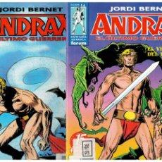 Cómics: ANDRAX -JORDI BERNET- COMPLETA 1 AL 14. FORUM. MUY BUENA.. Lote 221811141