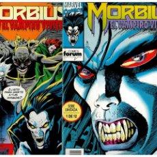 Cómics: MORBIUS -EL VAMPIRO VIVIENTE- COMPLETA 1 AL 12. FORUM.. Lote 221826518