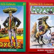 Cómics: EL COYOTE VOL. 1 Y 2. MAESTROS DE LA HISTORIA. NÚMEROS 5 Y 6. QUIRON EDICIONES. AÑO: 2000.. Lote 222232042