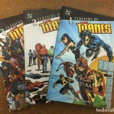 Cómics: CLÁSICOS DC. LOS TITANES - COMPLETA, 3 TOMOS. Lote 222247518