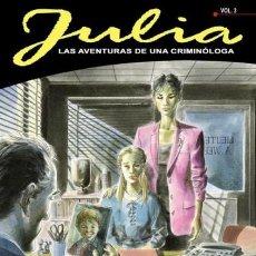 Cómics: JULIA LAS AVENTURAS DE UNA CRIMINOLOGA LOTE DE 7 TOMOS (3 A 6- 8- 11 Y 12) ALETA ED. - OFM15. Lote 223960651