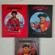 Fumetti: LOTE 3 VOL. - BARBARROJA - Nº 1, 2 Y 3 - CHARLIER, HUBINON - PONENT MON - COMO NUEVO - TAPA DURA. Lote 224041602