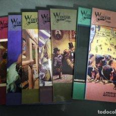 Cómics: WESTERNARIO. DICCIONARIO TEBEOS DEL OESTE. AGUSTÍN RIERA. 8 TOMOS.ESTUDIO ILUSTRADO COMICS DEL OESTE. Lote 224900898