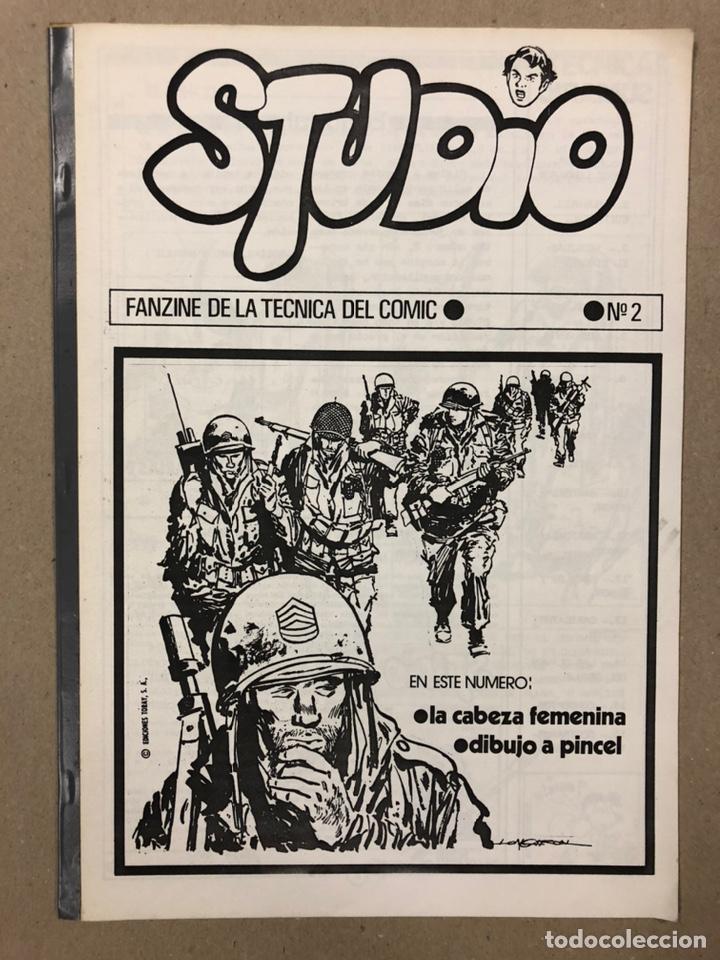 Cómics: STUDIO N° 1, 2, 3 y 4 (FERROL 1983). HISTÓRICOS FANZINES ORIGINALES SOBRE LA TÉCNICA DEL CÓMIC. VV.A - Foto 9 - 225606870