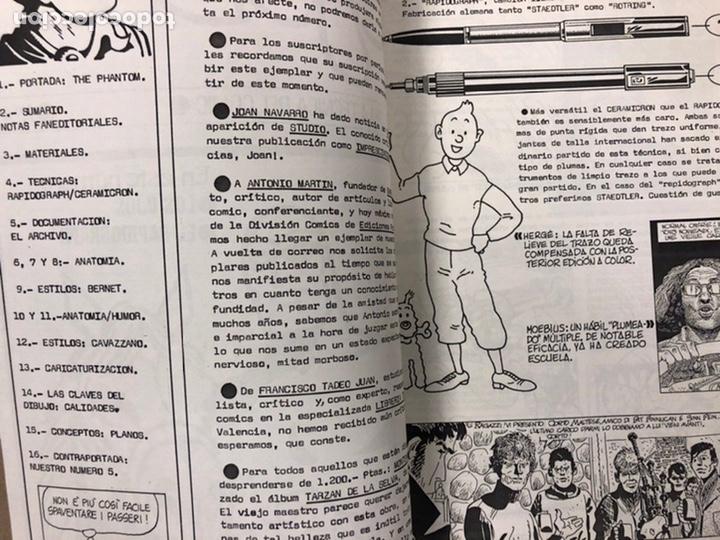 Cómics: STUDIO N° 1, 2, 3 y 4 (FERROL 1983). HISTÓRICOS FANZINES ORIGINALES SOBRE LA TÉCNICA DEL CÓMIC. VV.A - Foto 24 - 225606870