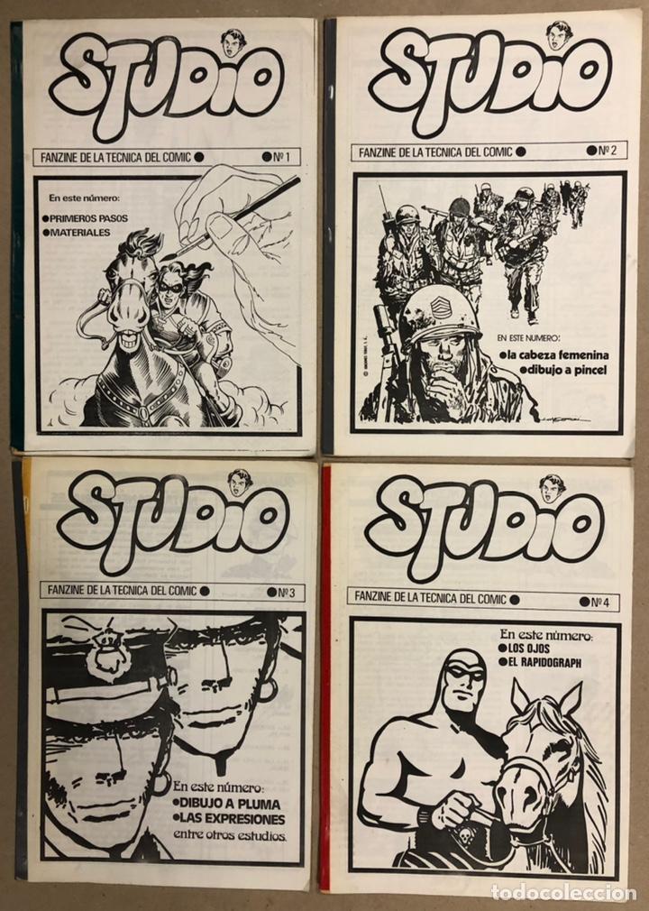 STUDIO N° 1, 2, 3 Y 4 (FERROL 1983). HISTÓRICOS FANZINES ORIGINALES SOBRE LA TÉCNICA DEL CÓMIC. VV.A (Tebeos y Comics Pendientes de Clasificar)