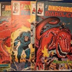 Comics : EL DINOSAURIO DIABÓLICO Nº 1 AL 4 ¡¡COLECCIÓN COMPLETA!! - JACK KIRBY - VÉRTICE. Lote 225850897