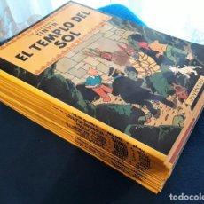 Cómics: LAS AVENTURAS DE TINTIN - LOTE DE 19 TOMOS - TAPA BLANDA - JUVENTUD. Lote 227979830