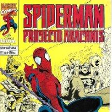 Cómics: SPIDERMAN PROYECTO ARACHNIS, MINISERIE COMPLETA 6 NÚMEROS, FORUM. Lote 228312135