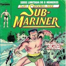 Cómics: SUBMARINER SERIE LIMITADA DE 8 NÚMEROS, COMPLETA, FORUM. Lote 228312555