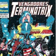 Cómics: VENGADORES TERMINATRIX, MINISERIE COMPLETA 4 NÚMEROS, FORUM. Lote 228314020