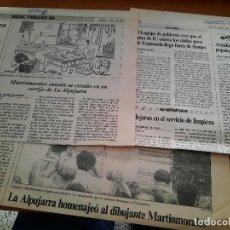 Cómics: MARTINMORALES. 4 ARTÍCULOS-RECORTES DE PERIÓDICO. BUEN ESTADO. DIFICIL. Lote 228449455