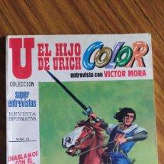 Cómics: CAPITÁN TRUENO. EL HIJO DE URICH. ENTREVISTA CON VÍCTOR MORA. MAYO 1999.. Lote 229050110