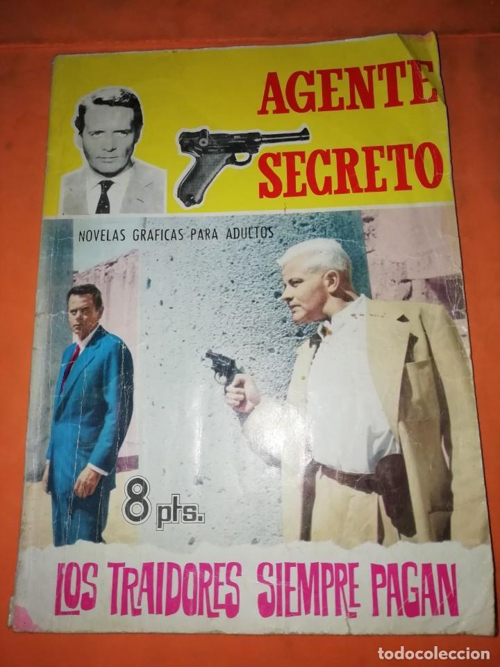 AGENTE SECRETO. Nº 17. LOS TRAIDORES SIEMPRE PAGAN. EDITORIAL FERMA. 1966 (Tebeos y Comics Pendientes de Clasificar)