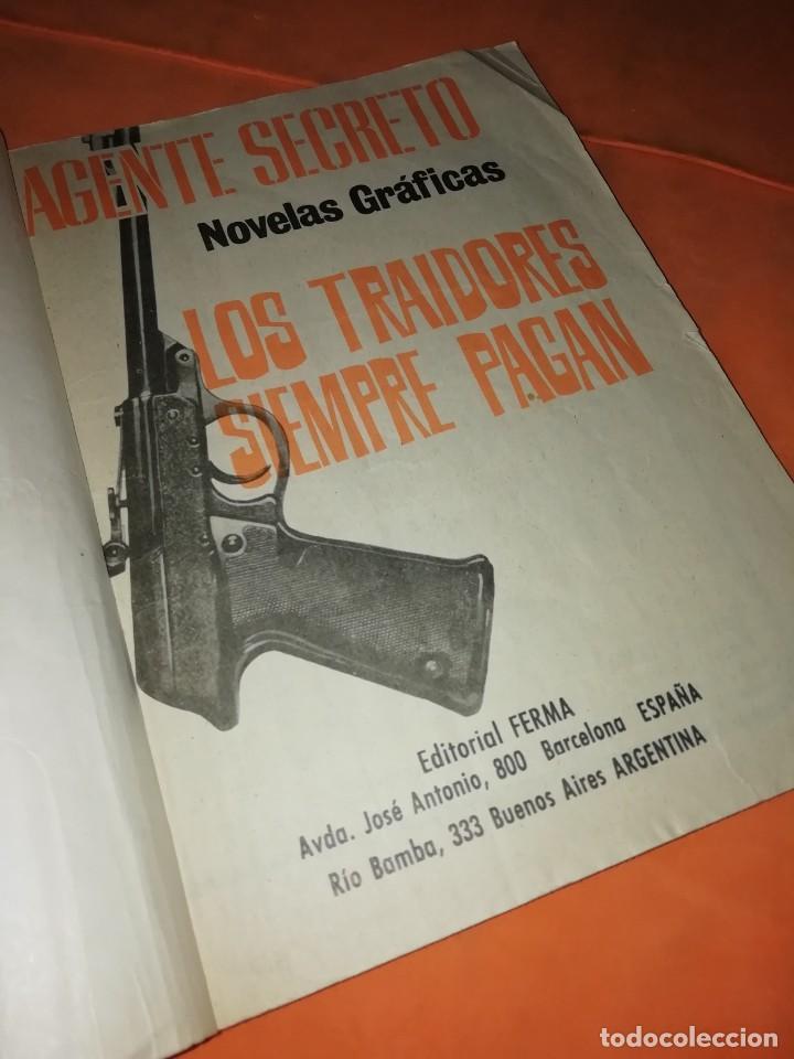 Cómics: AGENTE SECRETO. Nº 17. LOS TRAIDORES SIEMPRE PAGAN. EDITORIAL FERMA. 1966 - Foto 2 - 229493330