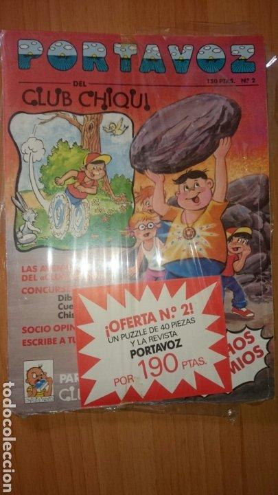 REVISTA PORTAVOZ DEL CLUB CHIQUI, NÚMERO 2, INCLUYE PUZZLE (Tebeos y Comics - Comics otras Editoriales Actuales)