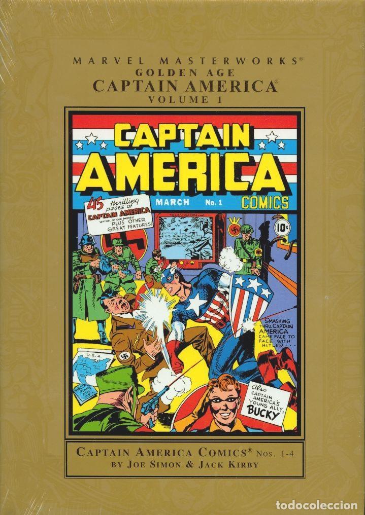 MARVEL MASTERWORKS GOLDEN AGE CAPTAIN AMERICA 272 PÁGINAS EJEMPLAR NUEVO (Tebeos y Comics - Comics otras Editoriales Actuales)