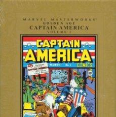 Cómics: MARVEL MASTERWORKS GOLDEN AGE CAPTAIN AMERICA 272 PÁGINAS EJEMPLAR NUEVO. Lote 230237210
