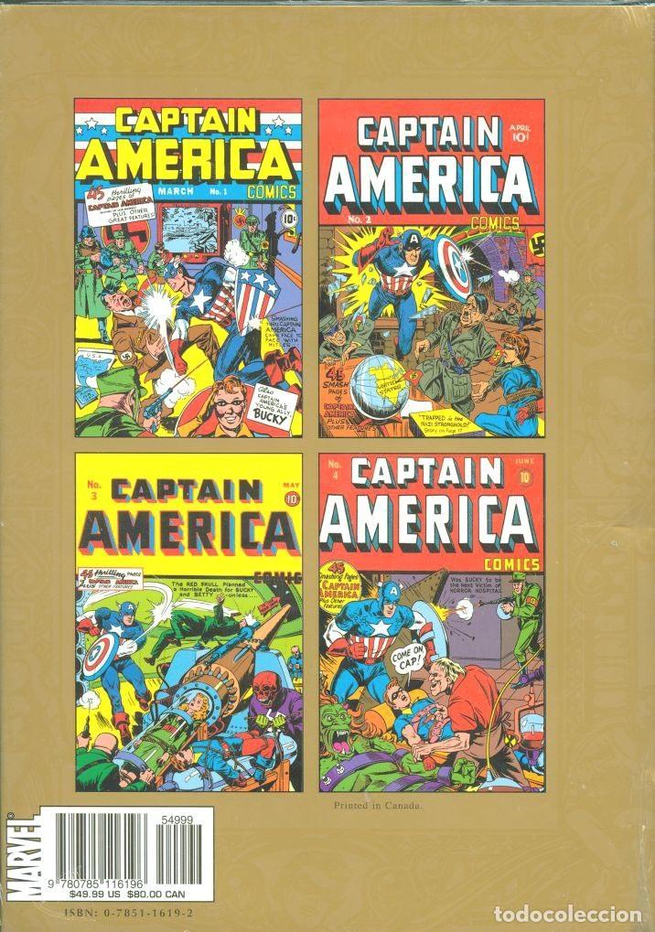 Cómics: Marvel Masterworks Golden Age Captain America 272 Páginas Ejemplar NUEVO - Foto 2 - 230237210