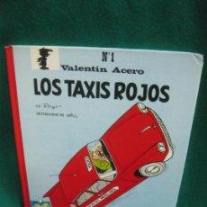 Cómics: VALENTIN ACERO Nº 1. LOS TAXIS ROJOS. PEYO. DECORADOS DE WILL. EDITORIAL CASALS 1991.. Lote 230351765