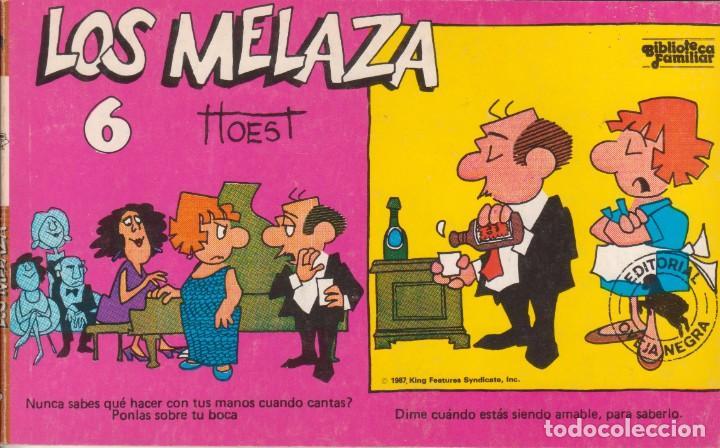 "CÓMIC REC. TIRAS DE PRENSA "" LOS MELAZA Nº 6 (TTOEST) ED. OVEJA NEGRA (BIB. FAMILIAR) 1987 COLOMBIA (Tebeos y Comics Pendientes de Clasificar)"
