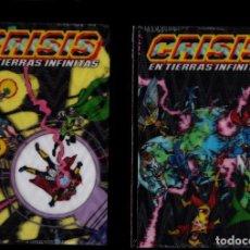 Cómics: CRISIS EN TIERRAS INFINITAS 1 2 3 4 5 COMPLETA - ECC / DC / EDICIÓN XP CON CUBIERTA 3D. Lote 245733905