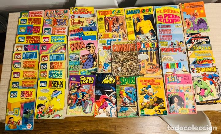 50 LOTE COMICS Y REVISTAS DE AÑOS 70 Y 80 . (Tebeos y Comics Pendientes de Clasificar)