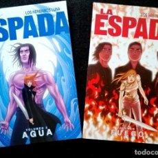 Cómics: LA ESPADA (1- FUEGO, 2 AGUA - COMPLETA) (LOS HERMANOS LUNA) ALETA 2013 ''MUY BUEN ESTADO''. Lote 282944718