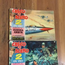 Cómics: ANTIGUOS 2 COMICS CASCOS DE ACERO GUERRA OESTE AÑOS 60. Lote 233607985