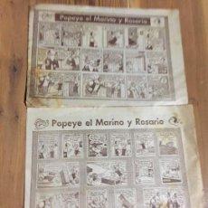 Cómics: ANTIGUOS 2 CUENTOS / COMICS INFANTILES POPEYE EL MARINO Y ROSARIO POR AMUCA AÑOS 60-70. Lote 233612600