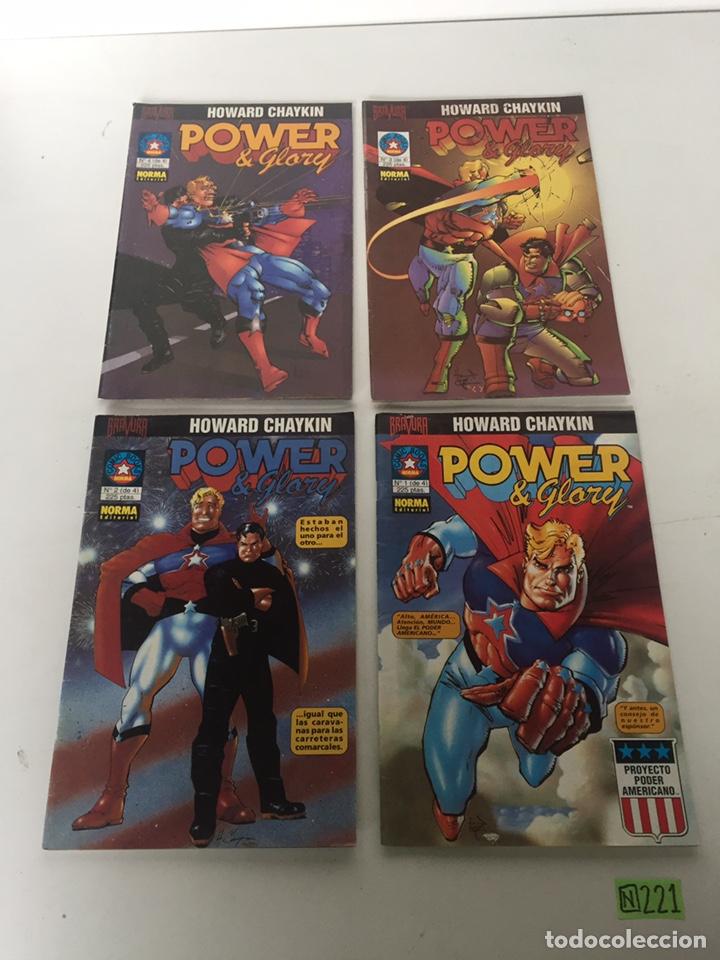 POWER & GLORY 1 A 4 COMPLETA - HOWARD CHAYKIN - BRAVURA (Tebeos y Comics - Comics Colecciones y Lotes Avanzados)