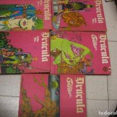 Cómics: CINCO TOMOS DE LA SERIE DRACULA LOS TOMOS 2-3-4-5-6. Lote 233918140