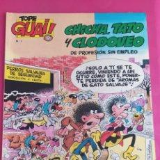 Cómics: TOPE GUAI! Nº 1 CHICHO,TATO Y CLODOVEO- UNA VIDA PERRUNA -TEBEOS S.A. AÑO 1.986. Lote 235086535