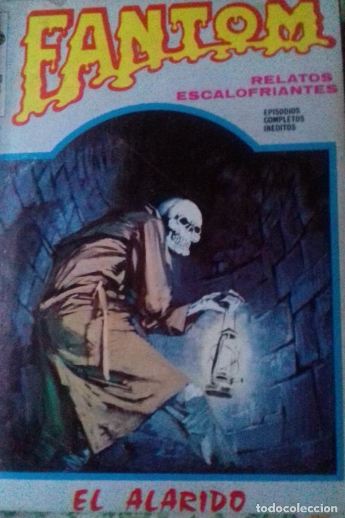 Cómics: Lote 7 Revistas FANTOM, VAMPUS y RUFUS 1972 1973 encuadernadas papel tela azul título dorado FANTOM - Foto 2 - 235154345