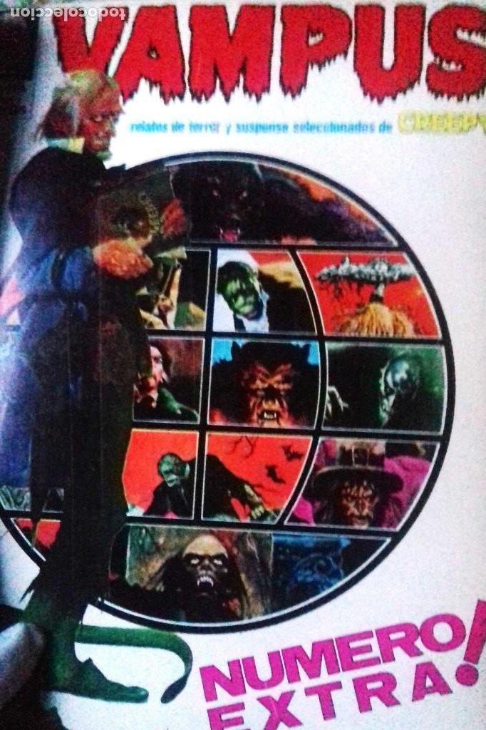 Cómics: Lote 7 Revistas FANTOM, VAMPUS y RUFUS 1972 1973 encuadernadas papel tela azul título dorado FANTOM - Foto 4 - 235154345