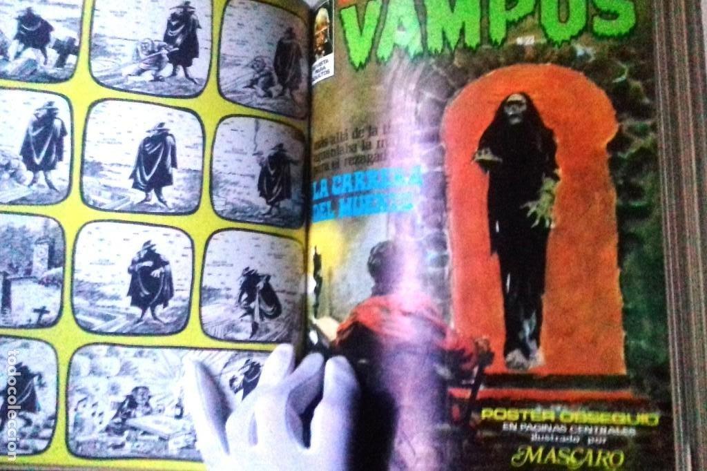 Cómics: Lote 7 Revistas FANTOM, VAMPUS y RUFUS 1972 1973 encuadernadas papel tela azul título dorado FANTOM - Foto 5 - 235154345