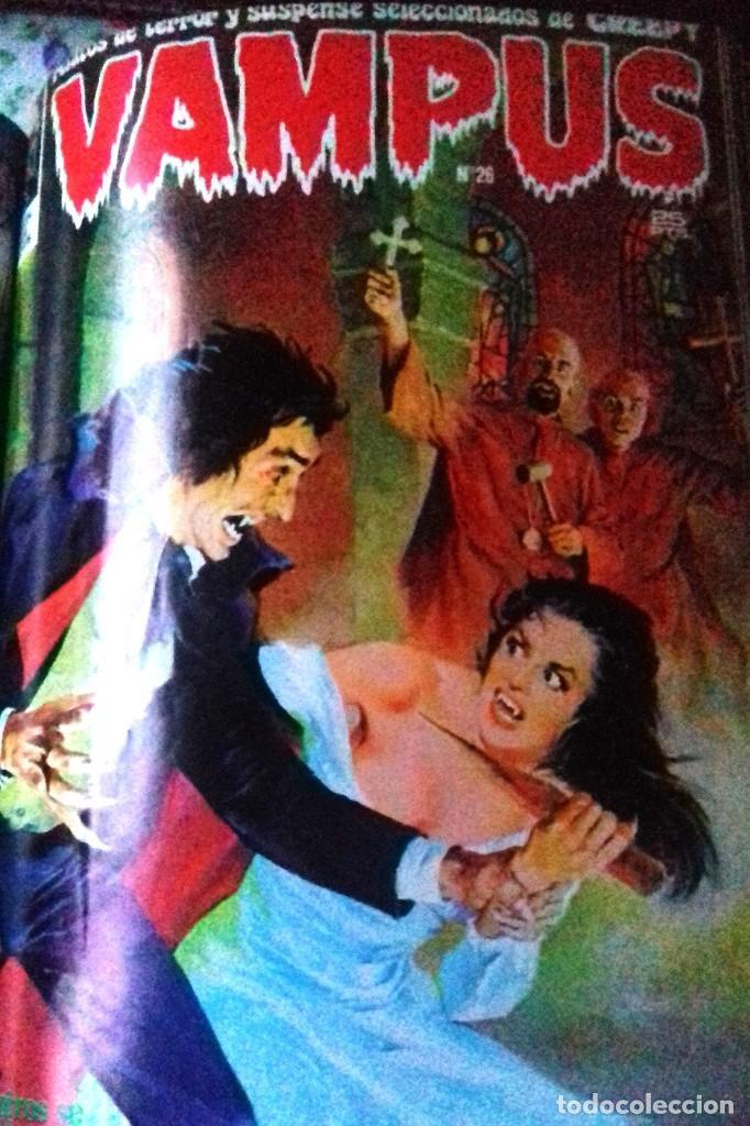Cómics: Lote 7 Revistas FANTOM, VAMPUS y RUFUS 1972 1973 encuadernadas papel tela azul título dorado FANTOM - Foto 8 - 235154345