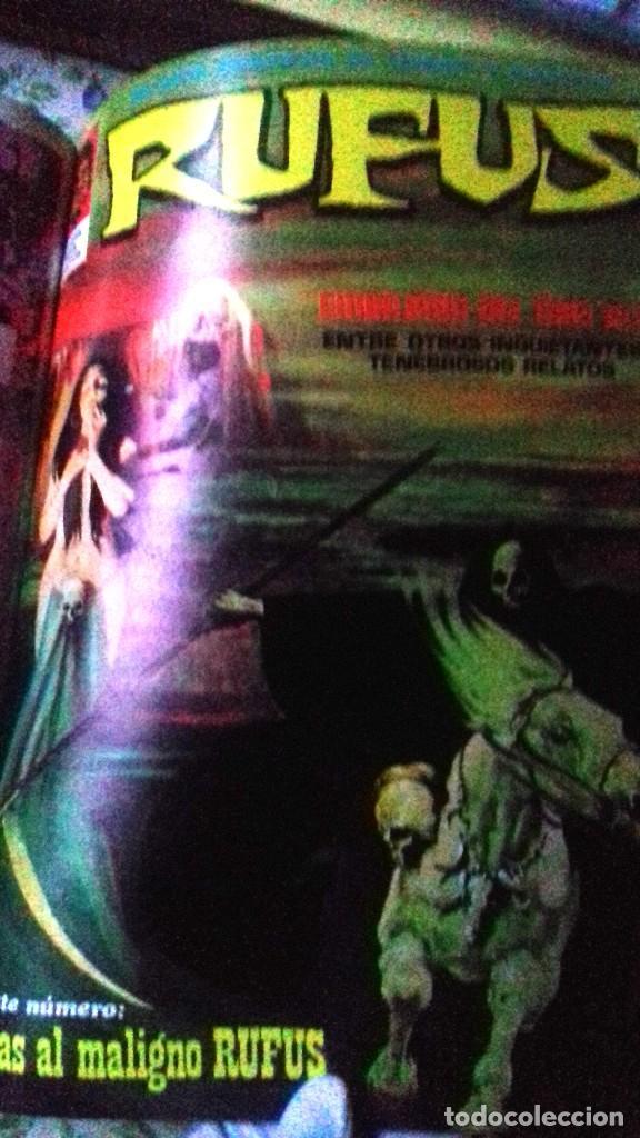 Cómics: Lote 7 Revistas FANTOM, VAMPUS y RUFUS 1972 1973 encuadernadas papel tela azul título dorado FANTOM - Foto 10 - 235154345