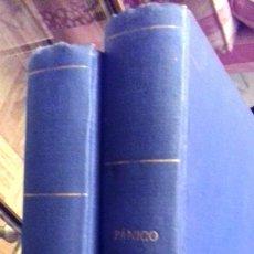 Cómics: 14 REVISTAS PANICO Y DOSSIER NEGRO 1972 ENCUADERNADAS EN 2 VOL PAPEL TELA AZUL TÍTULO DORADO PANICO. Lote 235161335
