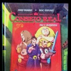 Cómics: CONSEJO REAL - PAZ E IMPUESTOS (JOSEP BUSQUET Y ROC ESPINET) DIBBUKS 2013 ''EXCELENTE ESTADO''. Lote 235515735