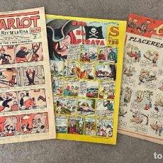Cómics: TRES EJEMPLARES AÑOS 40: CHARLOT, TBO S Y CHICOS. Lote 236129050