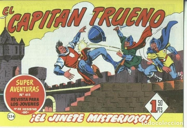 EL CAPITAN TRUENO FACSIMIL NUMERO 234: EL JINETE MISTERIOSO (NUMERADO 1 EN TRASERA) (Tebeos y Comics Pendientes de Clasificar)