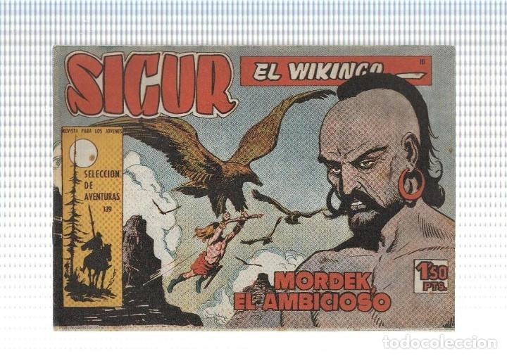 FACSIMIL: SIGUR EL VIKINGO DE JOSE ORTIZ NUMERO 10: MORDEK EL AMBICIOSO (Tebeos y Comics Pendientes de Clasificar)