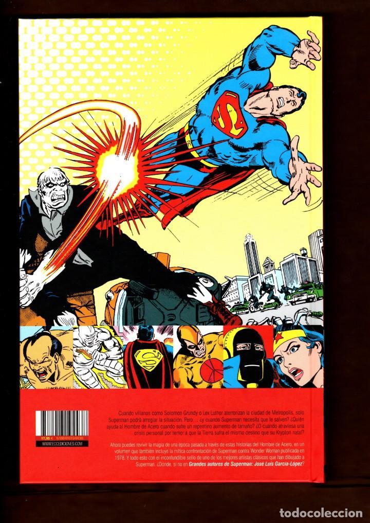 Cómics: SUPERMAN : CONTRA EL MUNDO - ECC / DC / TAPA DURA / GRANDES AUTORES : GARCIA-LOPEZ - Foto 2 - 236528115